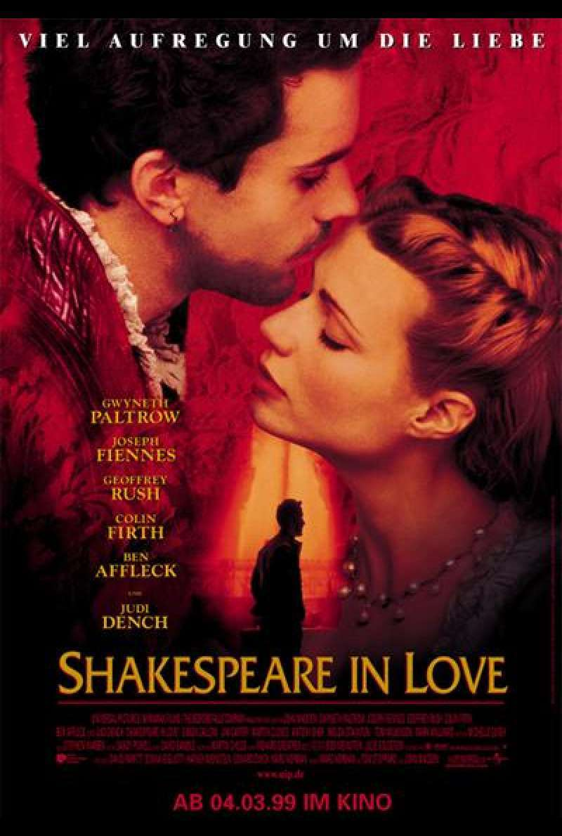 Shakespeare in Love - Filmplakat