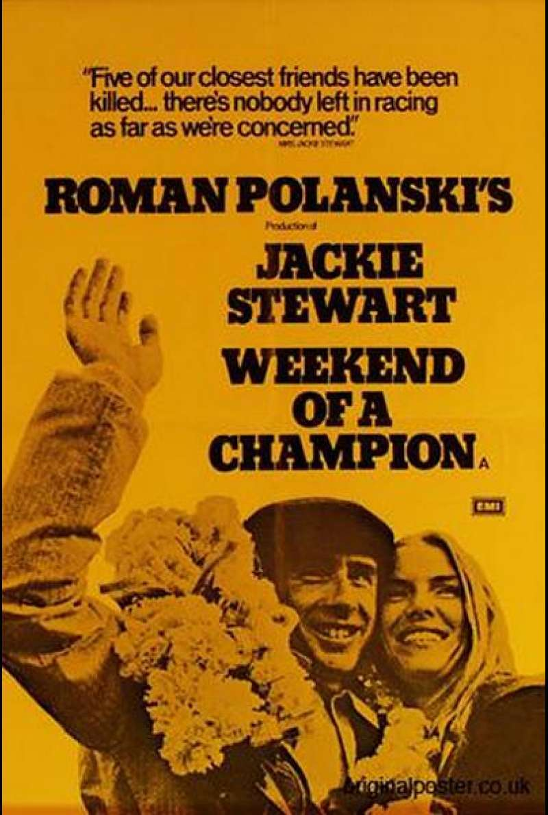 Weekend of a Champion - Filmplakat (UK)