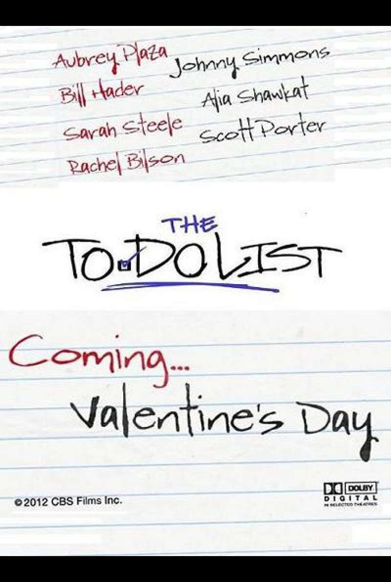 The To Do List - Filmplakat (USA)