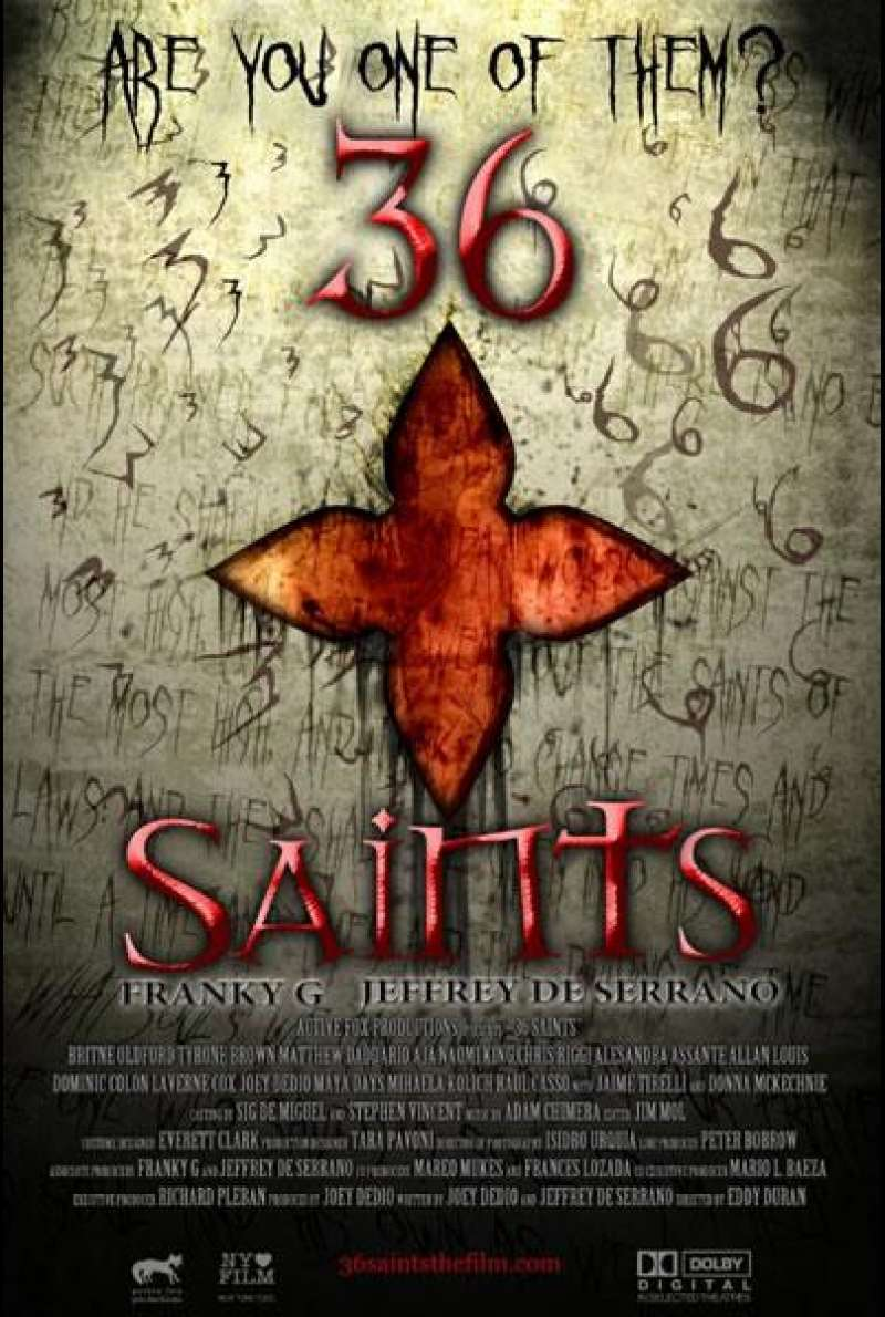 36 Saints  - Filmplakat (US)