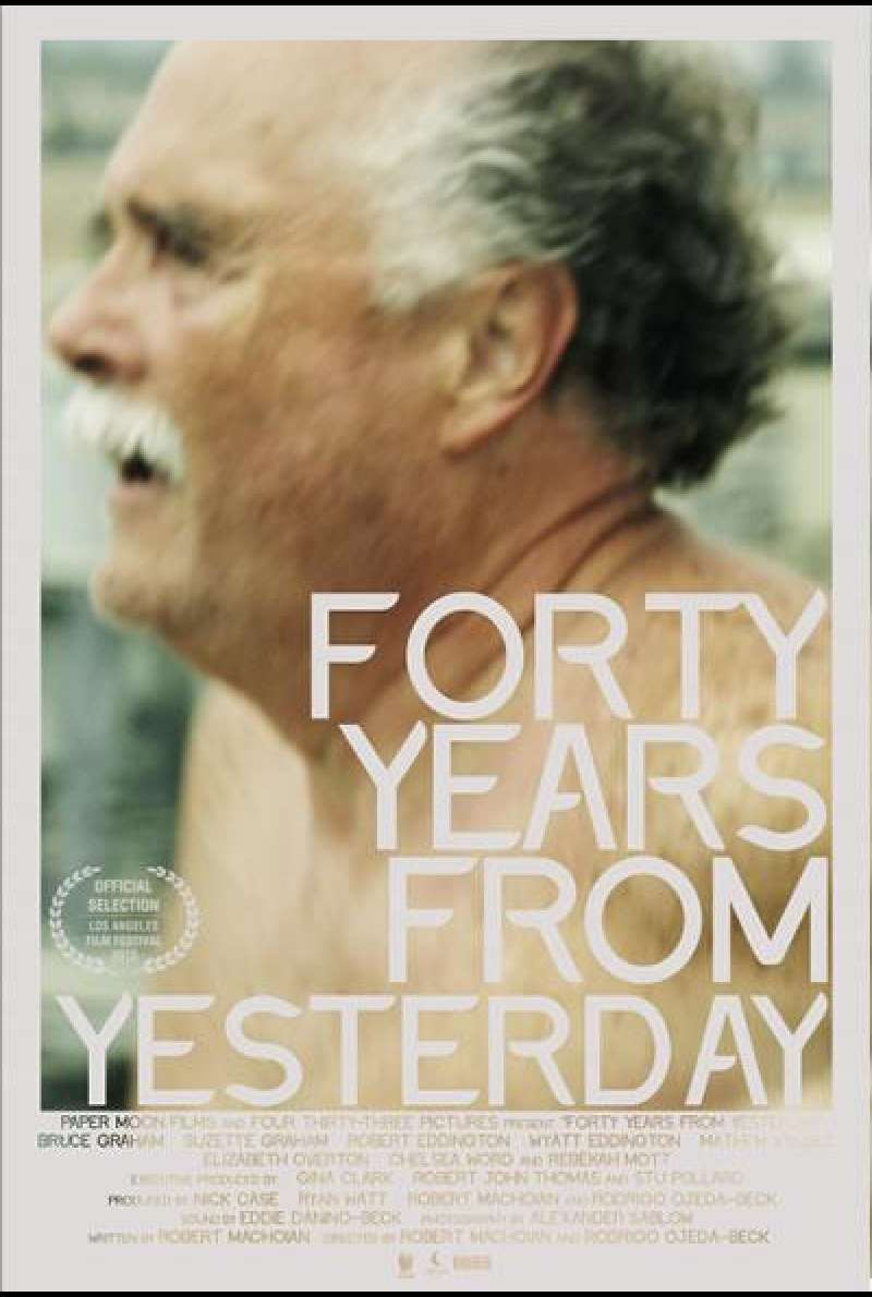 Forty Years from Yesterday - Filmplakat (USA)
