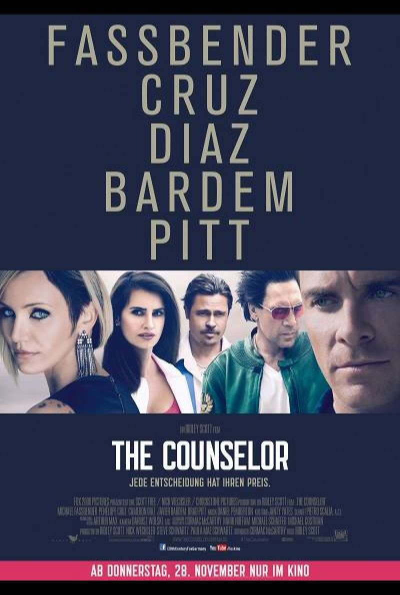 The Counselor - Filmplakat