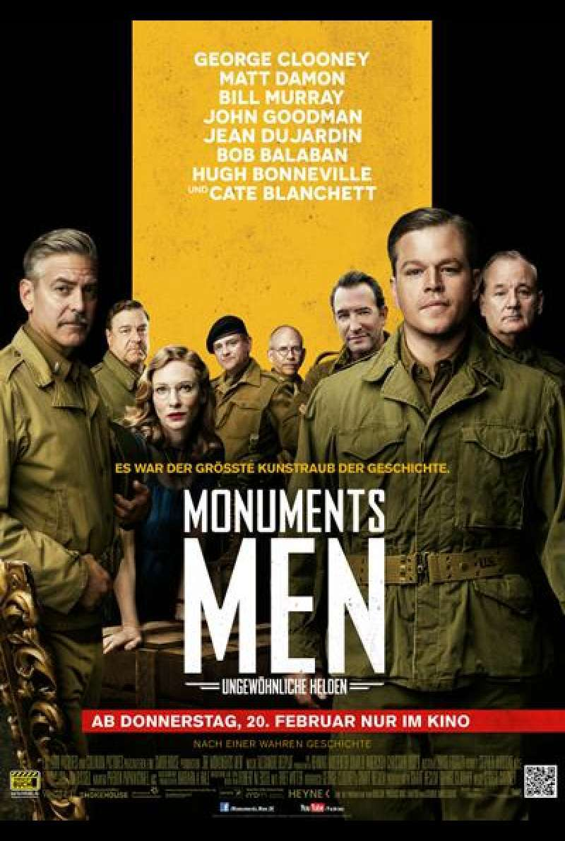 Monuments Men - Filmplakat