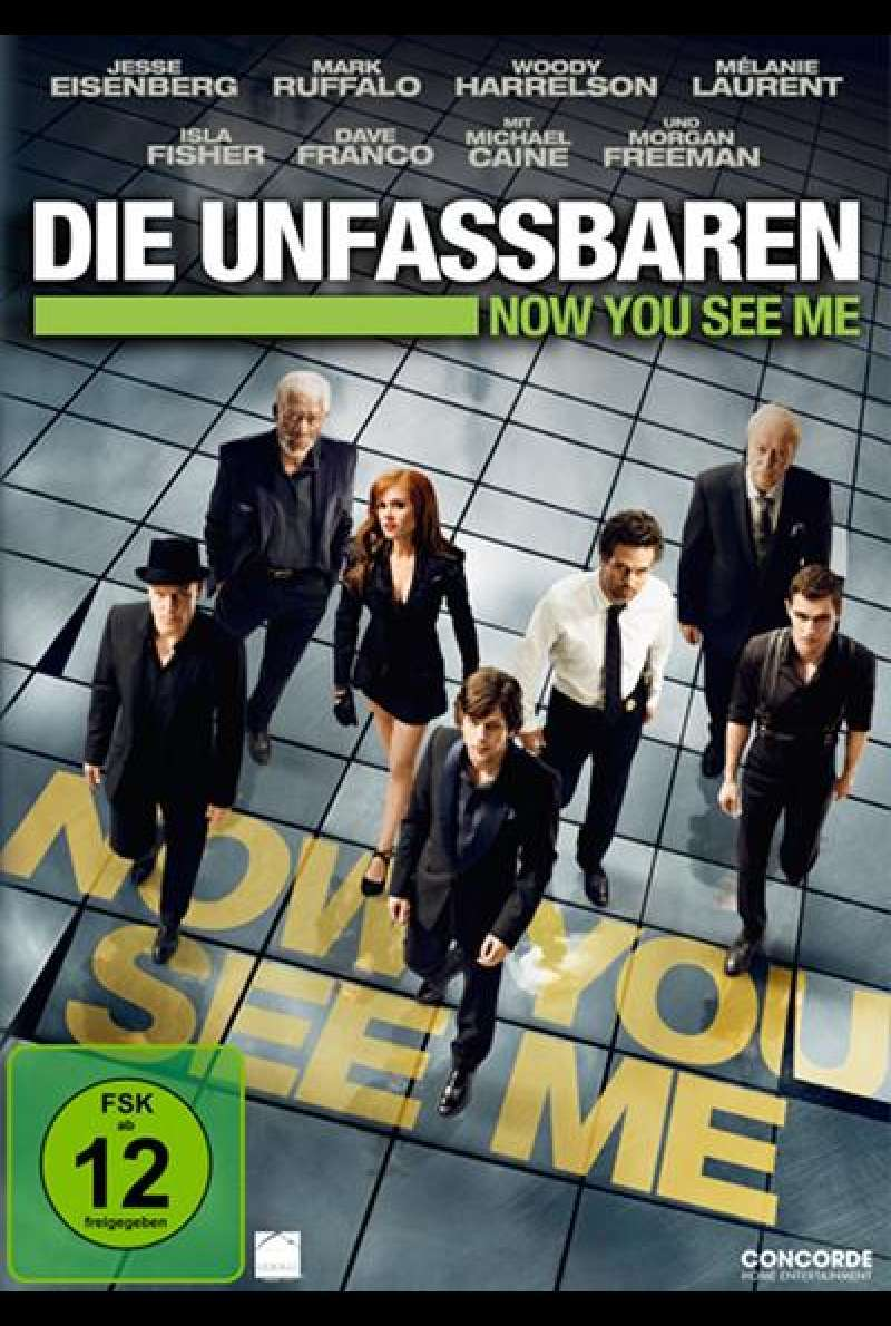 Die Unfassbaren - Now You See Me - DVD-Cover