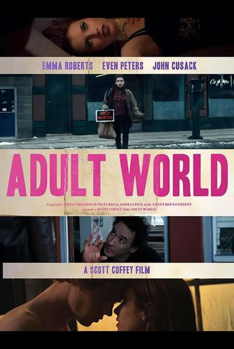 Adult World von Scott Coffey - Filmplakat (US)