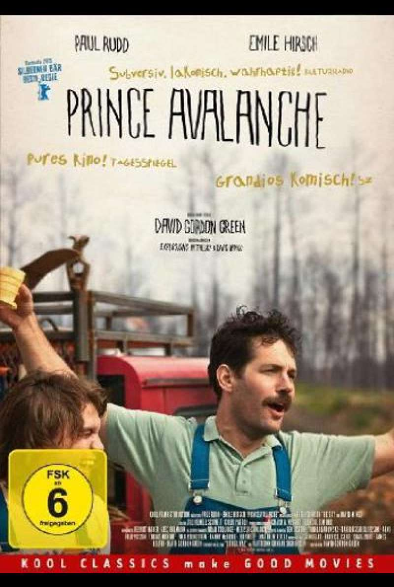 Prince Avalanche von David Gordon Green - DVD - Cover