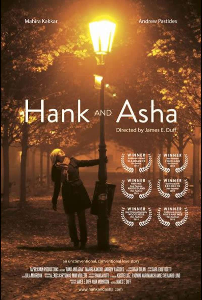 Hank and Asha von James E. Duff - Filmplakat (US)