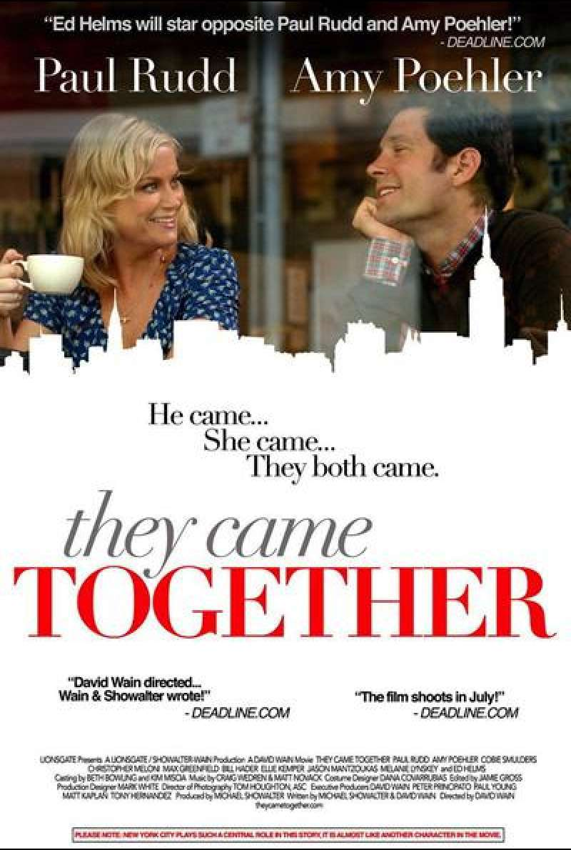 They Came Together von David Wain - Filmplakat (US)