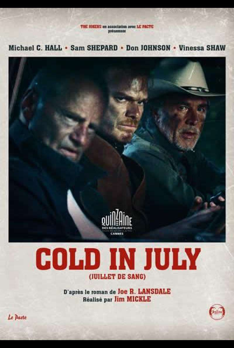 Cold in July von Jim Mickle - Filmplakat (FR)