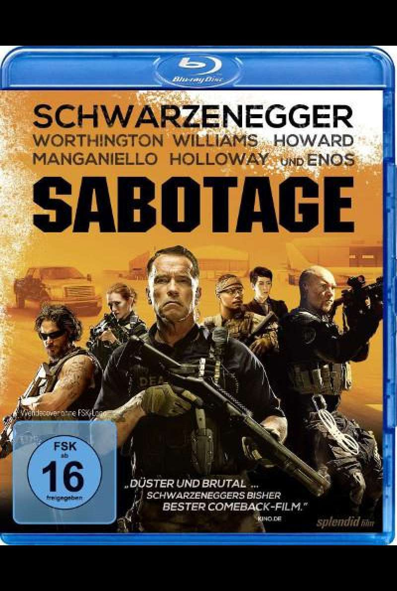 Sabotage von David Ayer - Blu-ray Cover