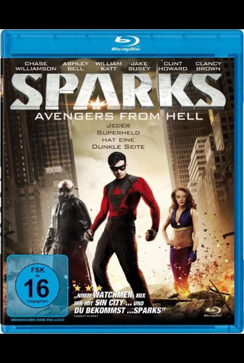 Sparks - Avengers from Hell von Todd Burrows - Blu-ray Cover