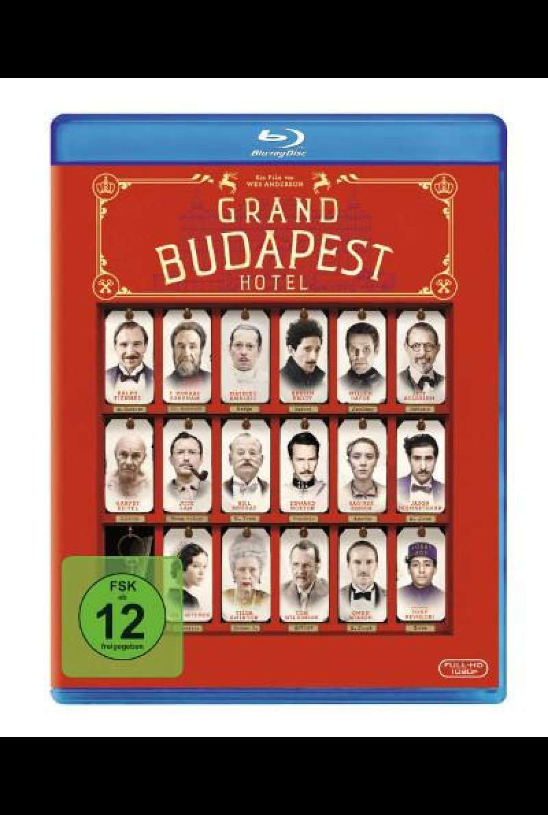 The Grand Budapest Hotel von Wes Anderson - Blu-ray Cover