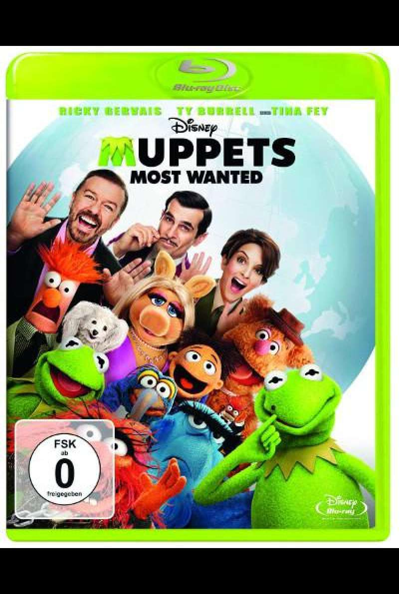 Muppets Most Wanted von James Bobin - Blu-ray Cover
