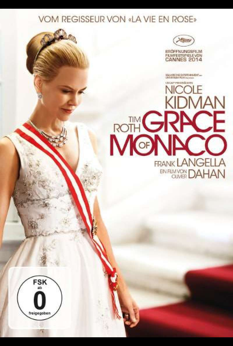 Grace of Monaco von Olivier Dahan - DVD-Cover