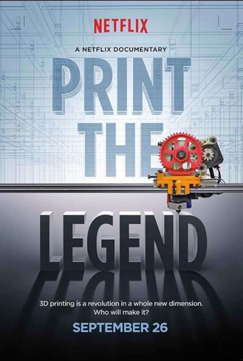 Print the Legend von Luis Lopez und J. Clay Tweel - Filmplakat (US)
