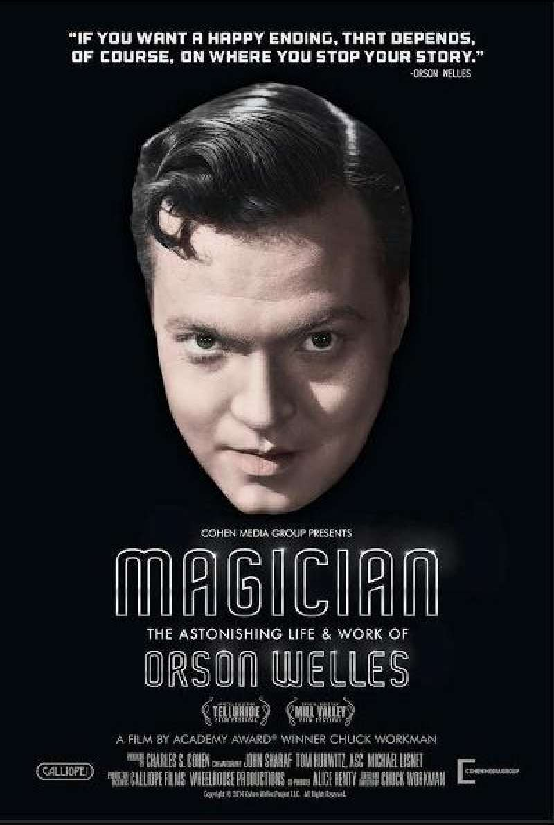 Magician: The Astonishing Life and Work of Orson Welles von Chuck Workman - Filmplakat (US)