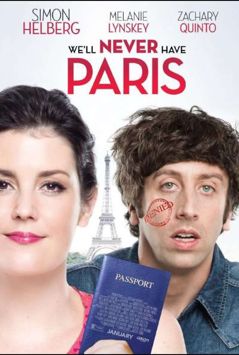 We'll Never Have Paris von Simon Helberg - Filmplakat (US)
