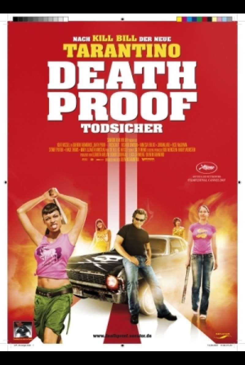 Filmplakat zu Death Proof - Todsicher / Death Proof von Quentin Taratino