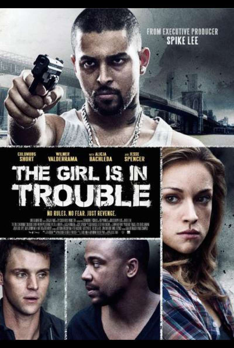 The Girl Is in Trouble - Filmplakat (US)