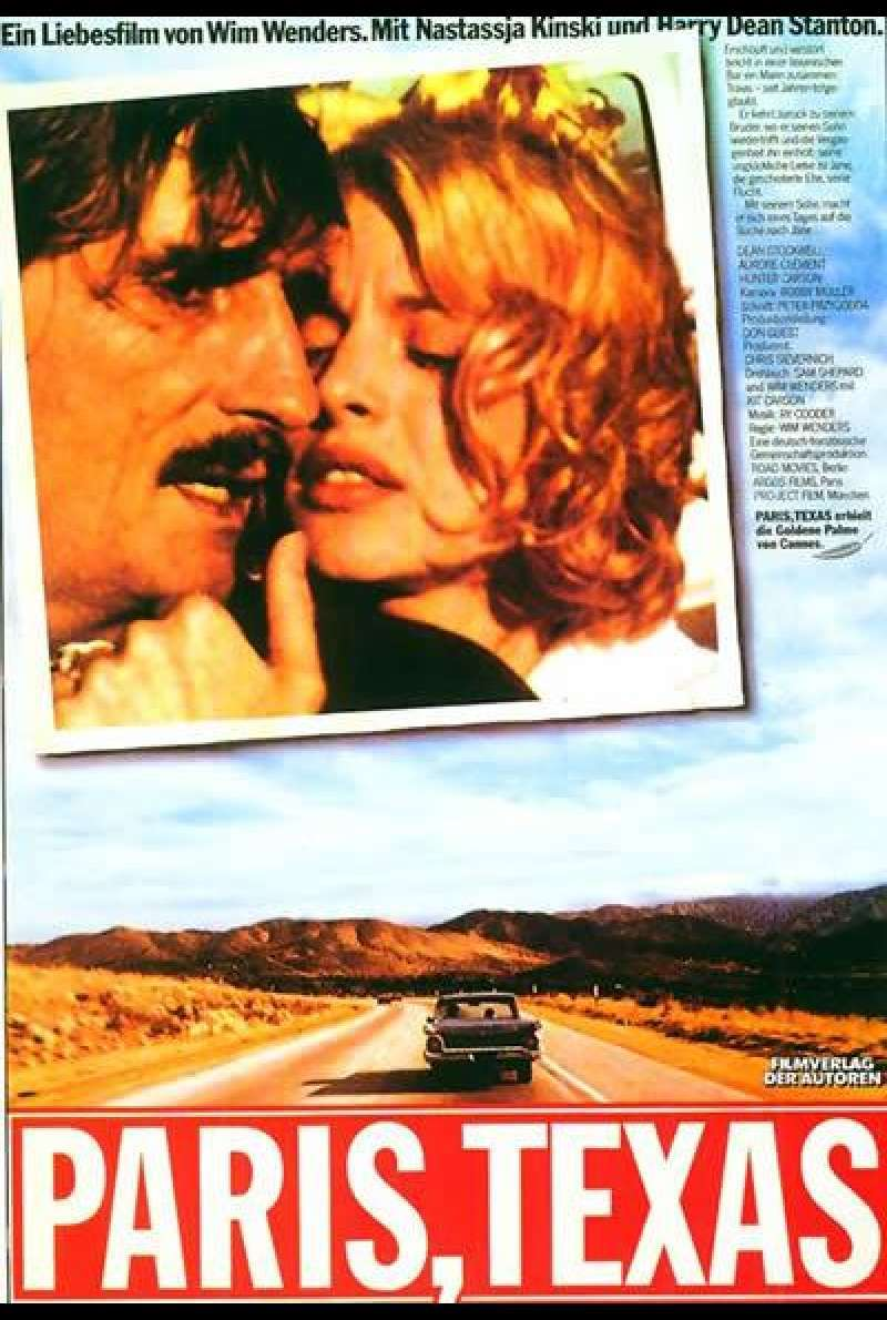 Paris, Texas - Filmplakat