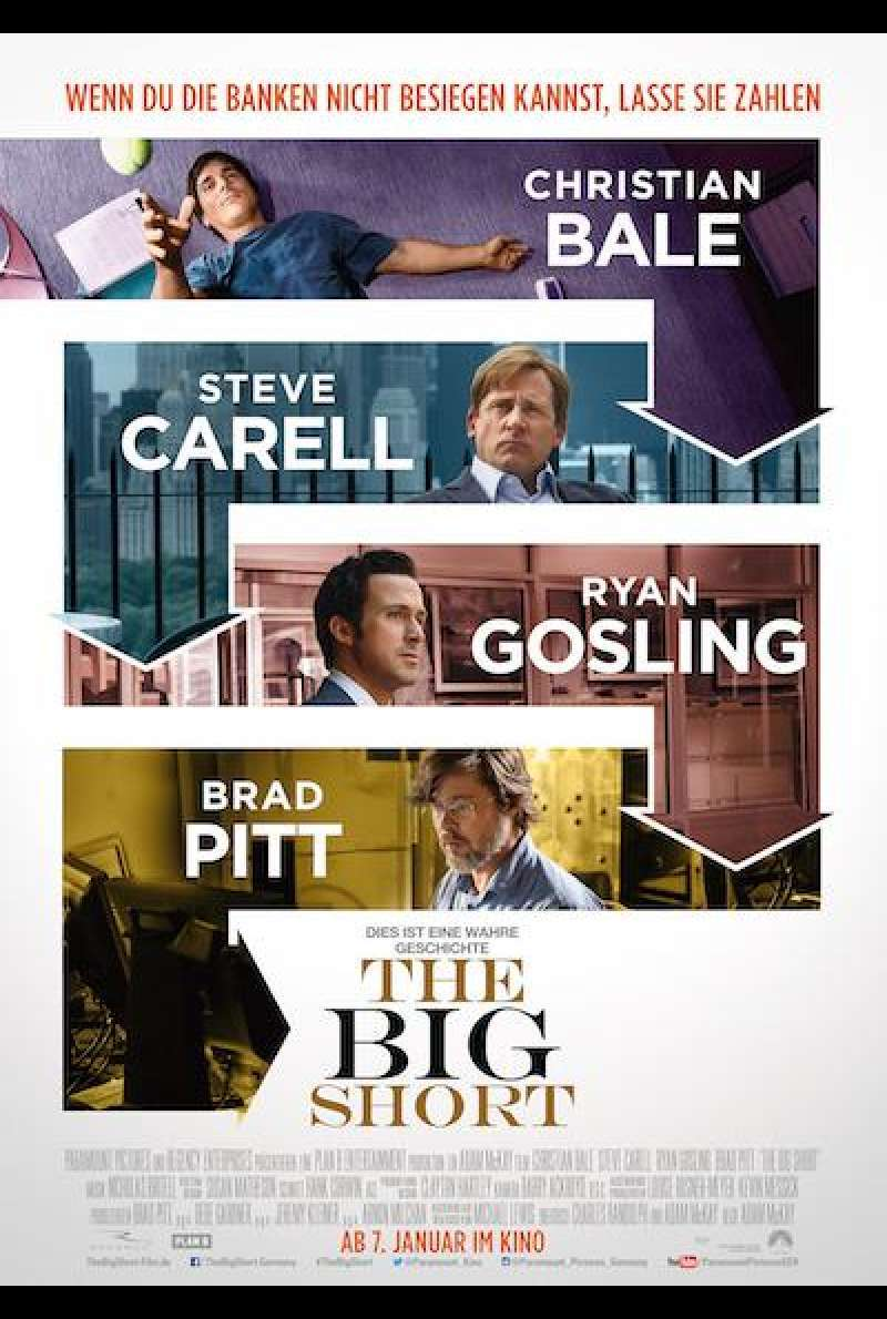 The Big Short von Adam McKay - Filmplakat