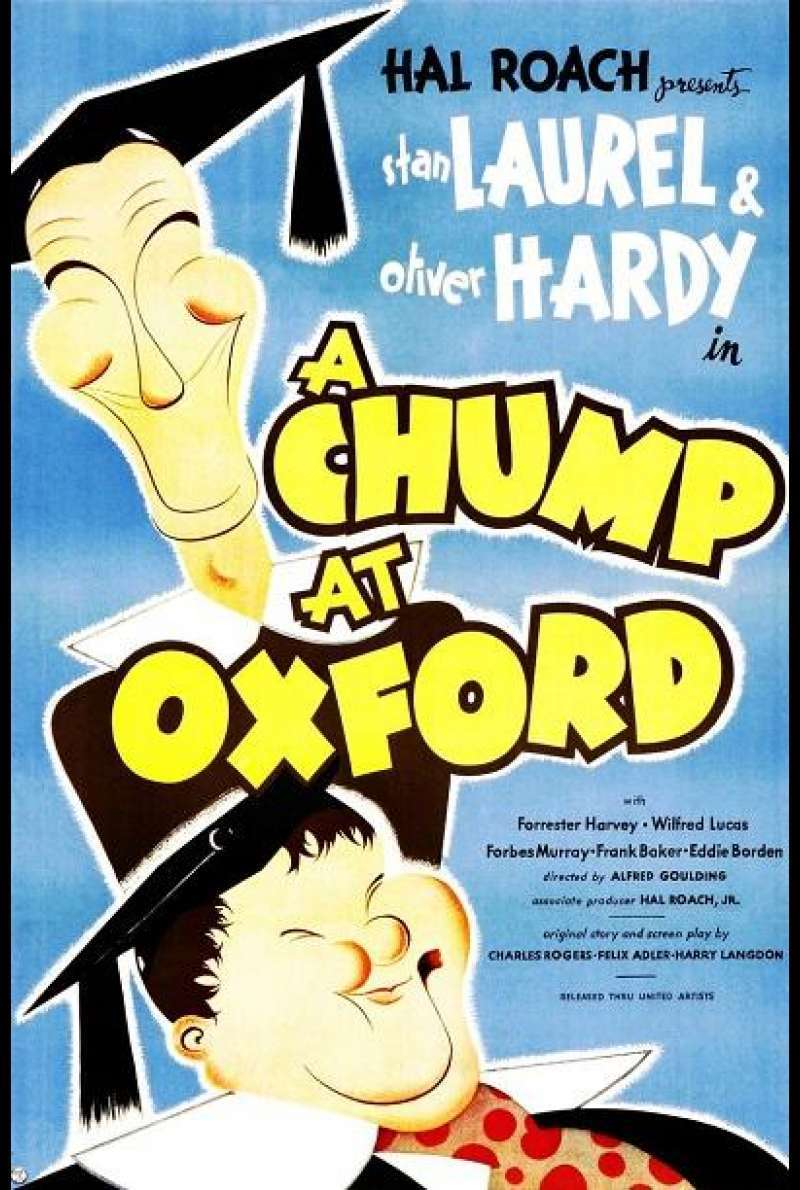 Laurel & Hardy - In Oxford - Filmplakat (US)