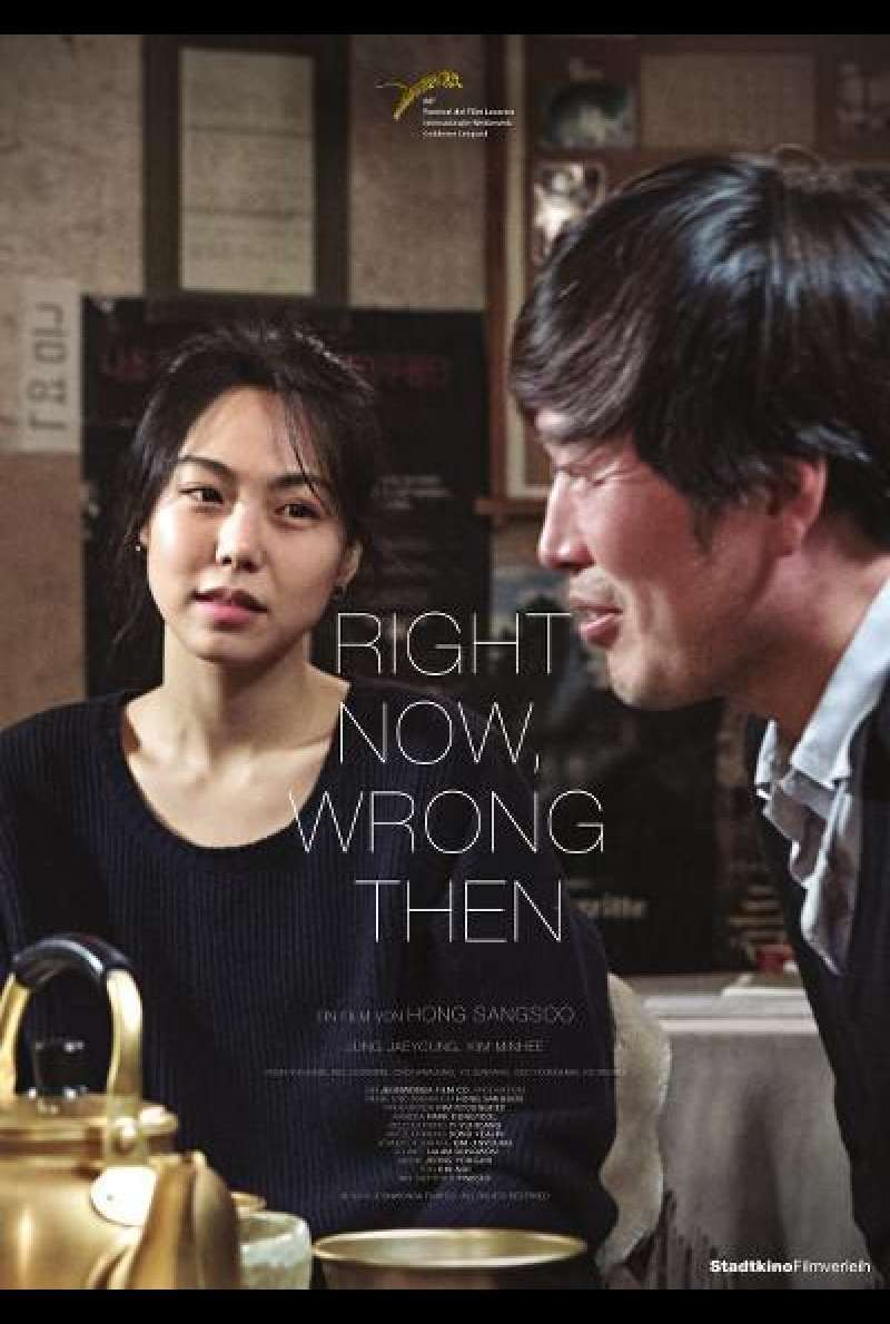Right Now, Wrong Then von Hong Sang-soo - Filmplakat (AT)