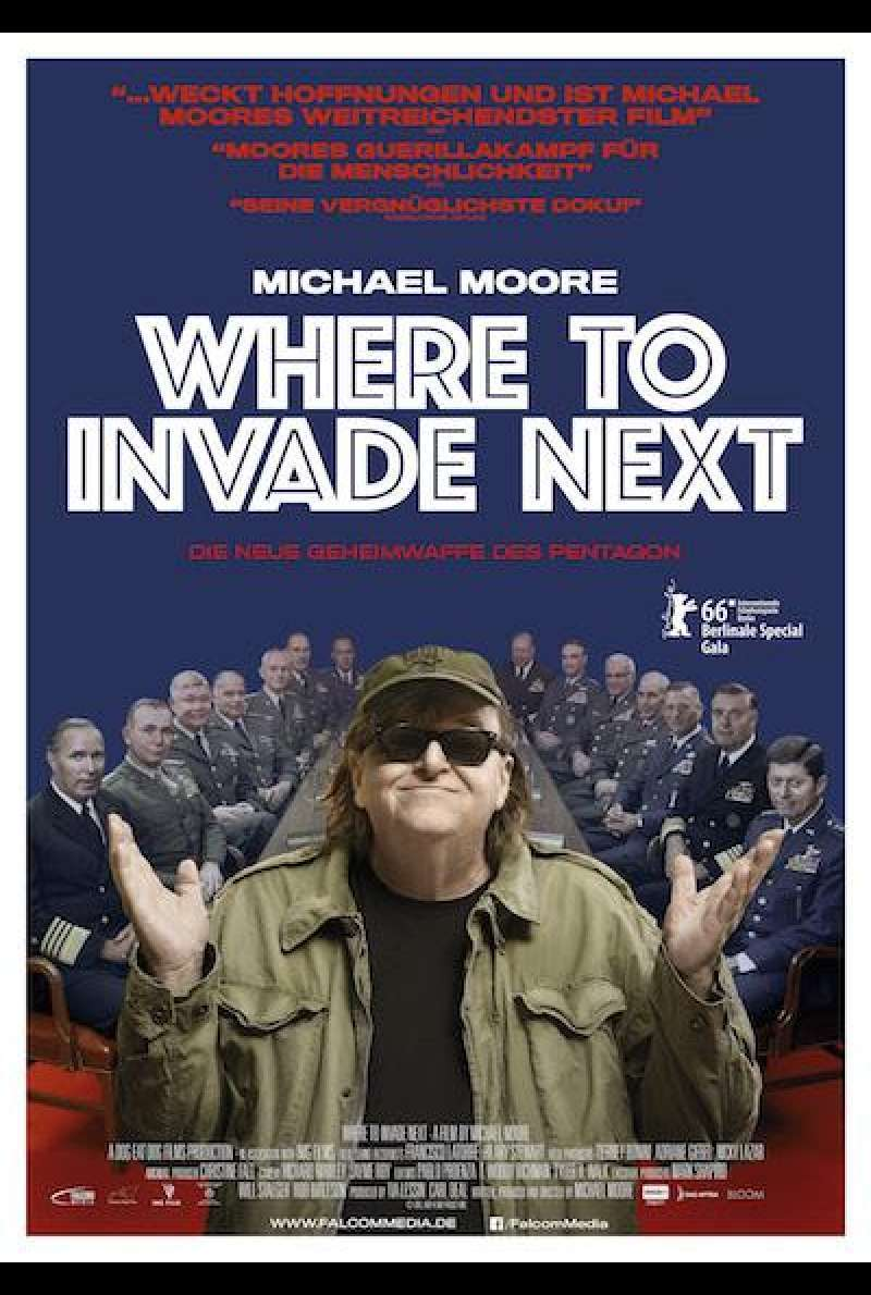 Where To Invade Next von Michael Moore - Filmplakat