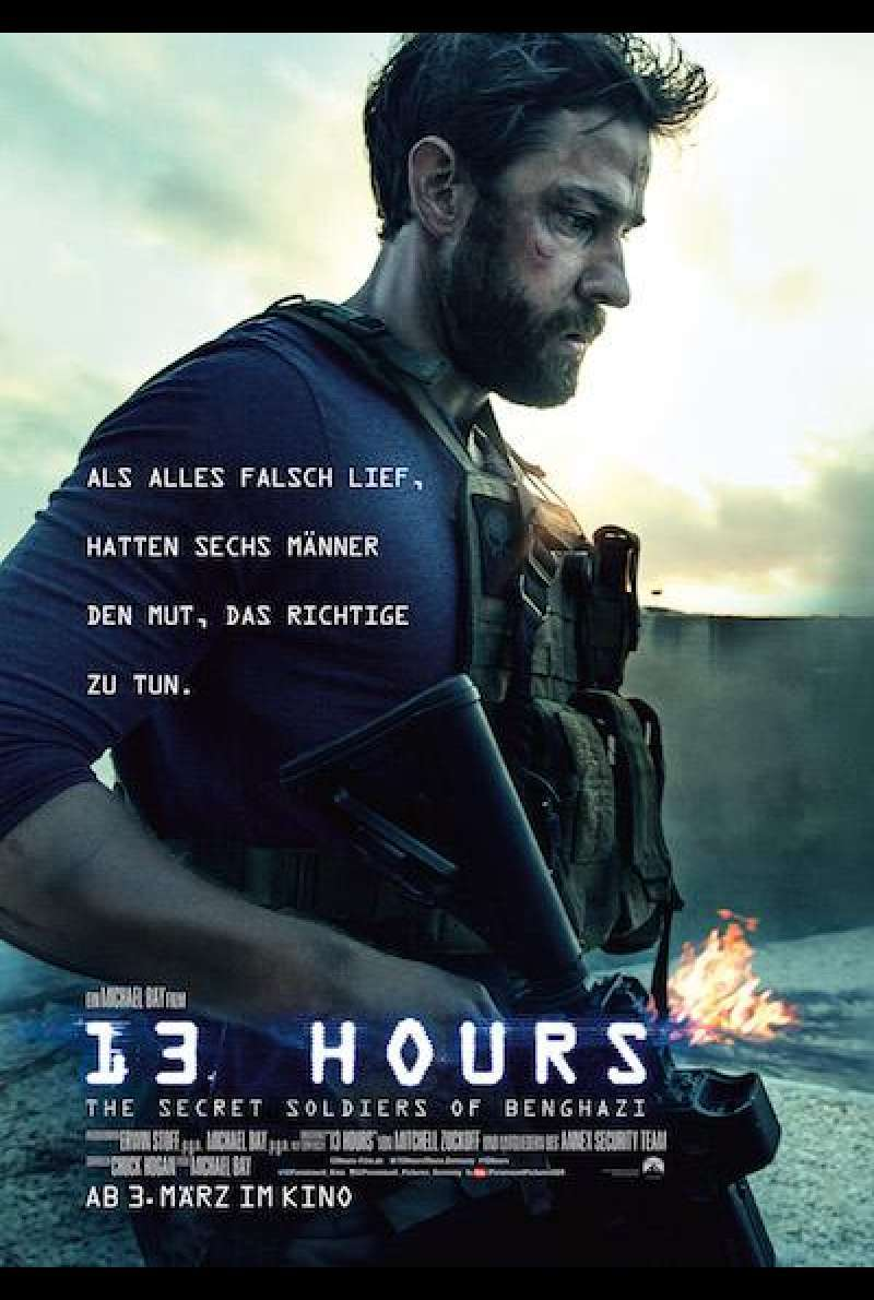 13 Hours: The Secret Soldiers of Benghazi von Michael Bay - Filmplakat