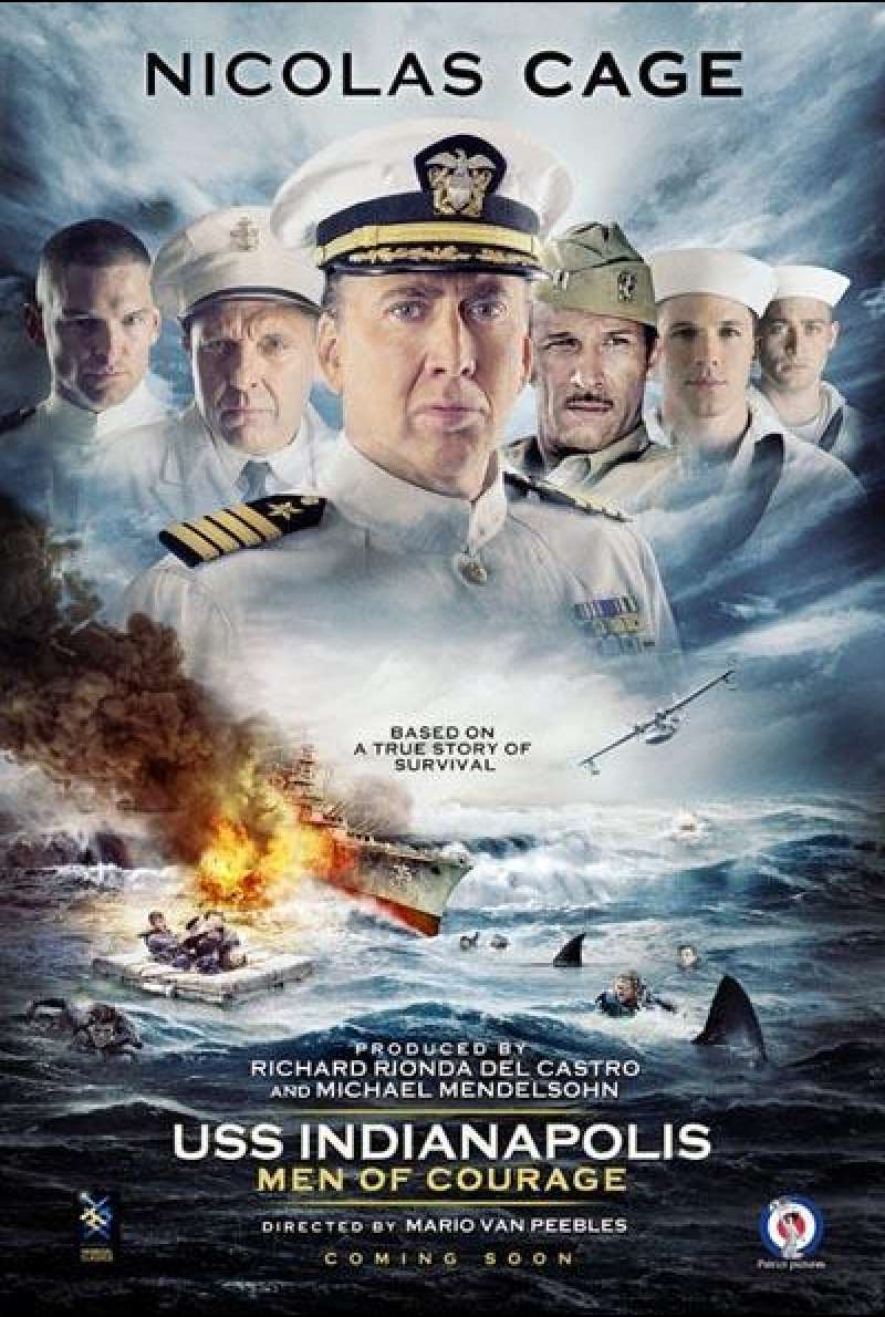 USS Indianapolis: Men of Courage von Mario Van Peebles - Filmplakat (INT)