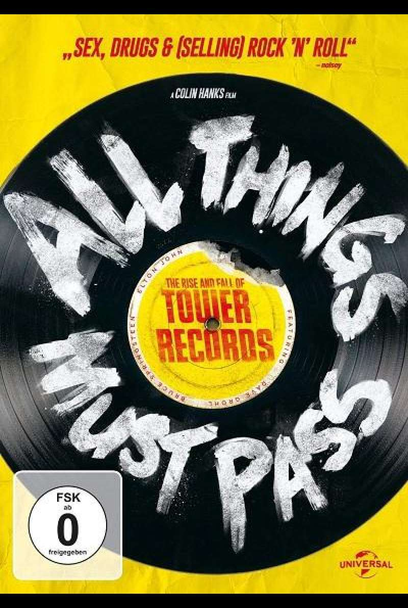 All Things Must Pass: The Rise and Fall of Tower Records - DVD-Cover