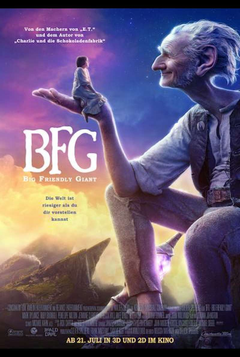 BFG - Big Friendly Giant von Steven Spielberg - Filmplakat