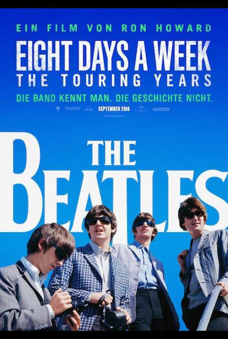 The Beatles: Eight Days a Week - The Touring Years von Ron Howard - Filmplakat