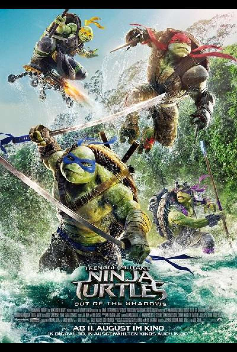 Teenage Mutant Ninja Turtles 2 - Filmplakat