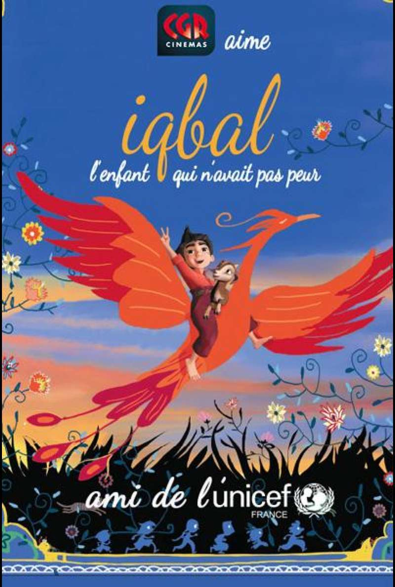 Iqbal, a Tale of a Fearless Child von Michel Fuzellier und Babak Payami - Filmplakat