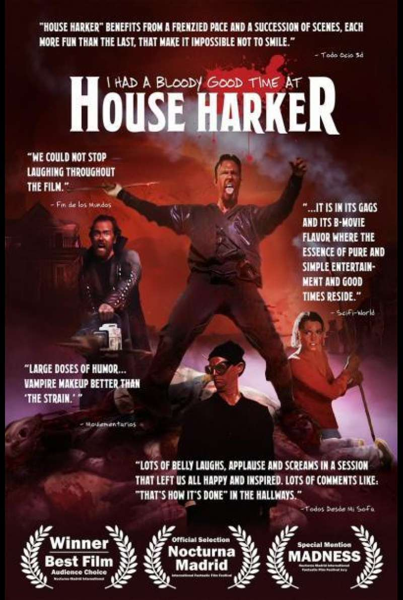 I Had a Bloody Good Time at House Harker von Clayton Cogswell - Filmplakat
