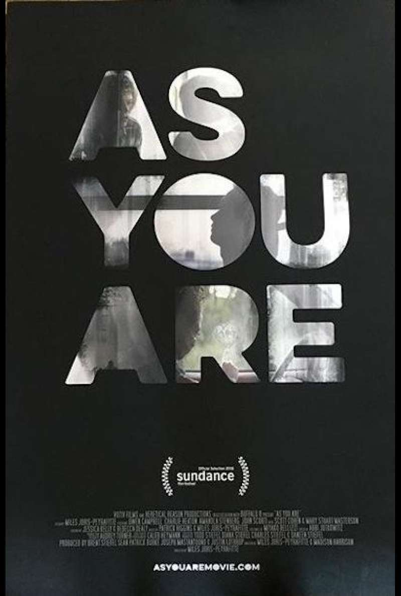 As you are - Filmplakat (INT)