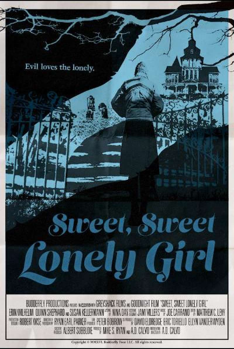 Sweet, Sweet Lonely Girl - Filmplakat (US)