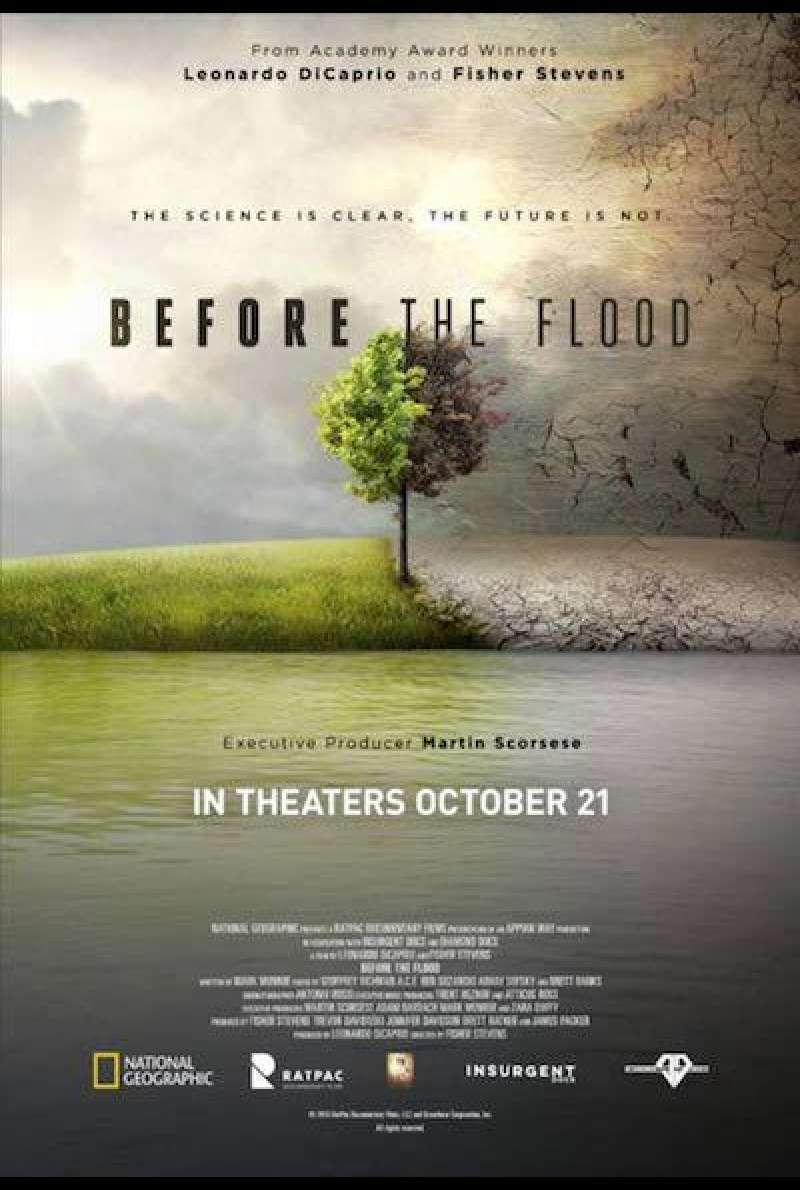 Before the Flood von Fisher Stevens - Filmplakat (US)