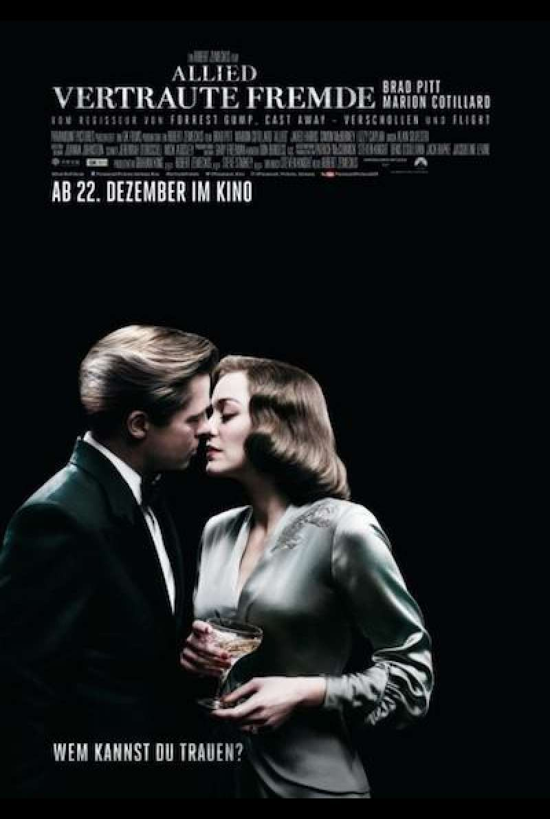Allied - Vertraute Fremde - Filmplakat
