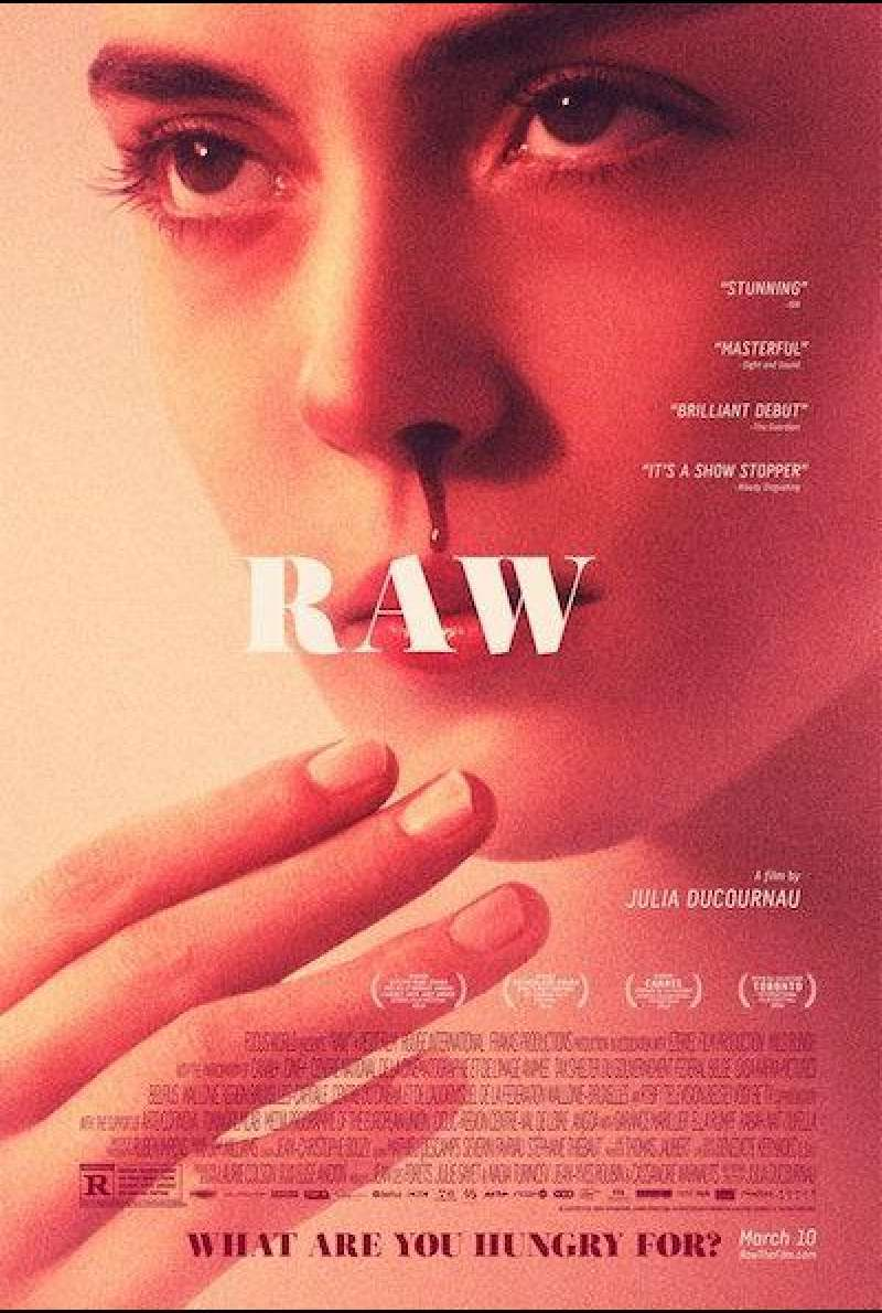 Raw von Julia Ducourneau - Filmplakat (US)