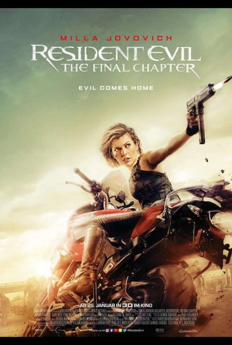 Resident Evil: The Final Chapter - Filmplakat