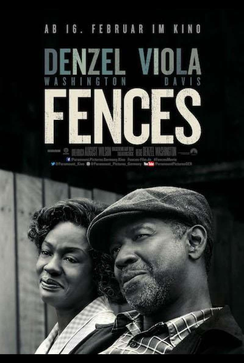Fences von Denzel Washington - Filmplakat