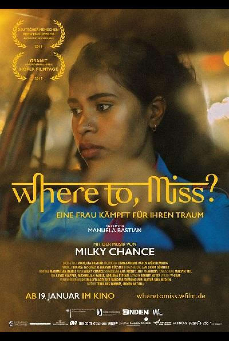 Where to, Miss? - Filmplakat