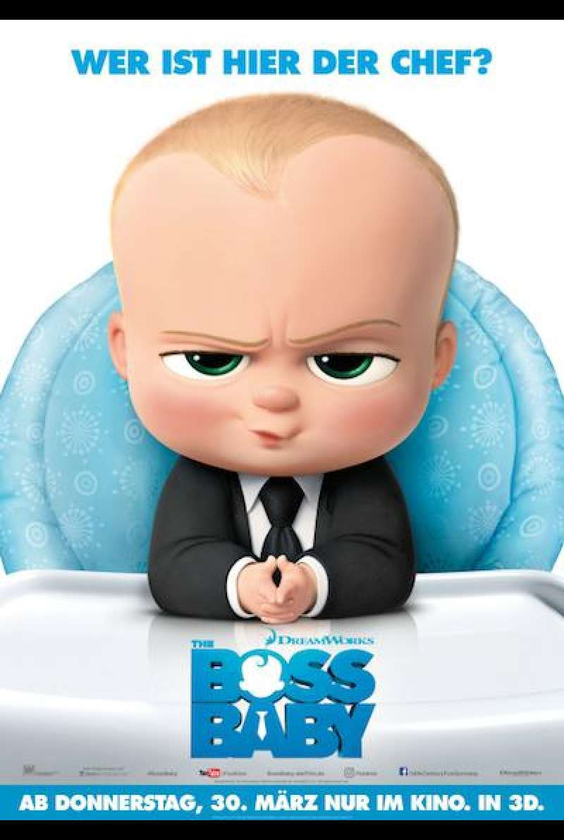 The Boss Baby von Tom McGrath - Filmplakat