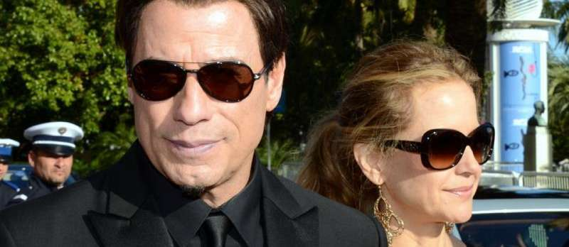John Travolta mit Kelly Preston im Jahre 2014 in Cannes